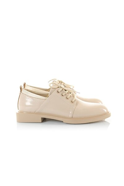 Holly Beyaz Rugan Oxford Ayakkabı
