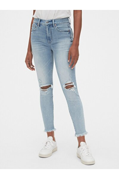 High Rise Skinny Ankle Jean Pantolon