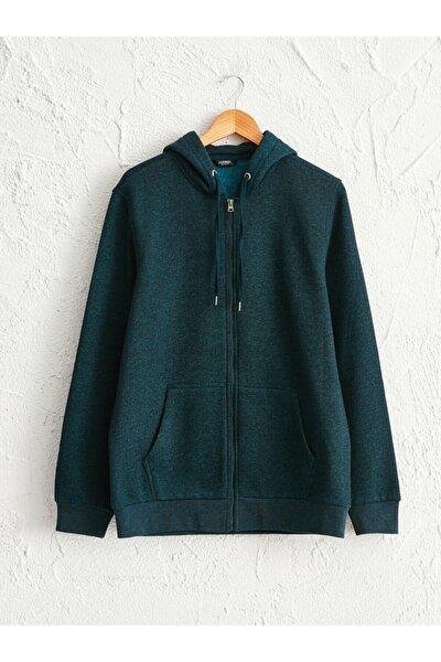 Erkek Zümrüt Yeşili Sweatshirt