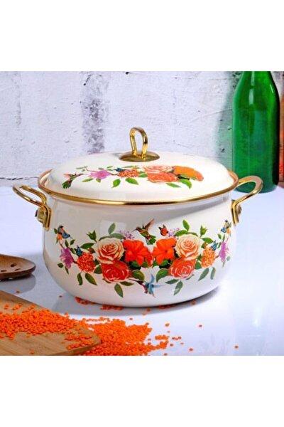 Kosova Emaye Tencere 22 Cm Flower-405