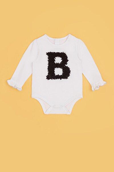Kız Bebek Beyaz Body 20pfwbg2509