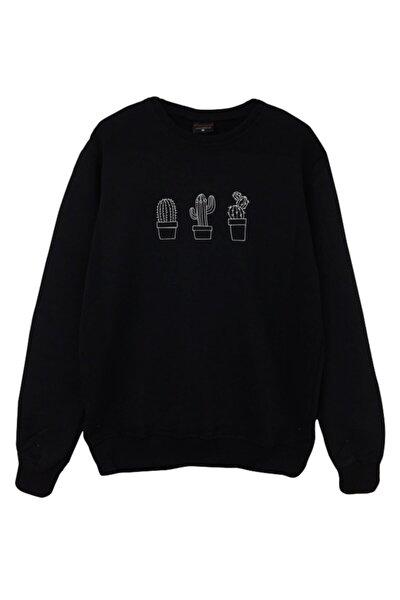 Kaktüs Baskılı Sweatshirt