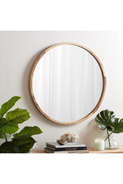 Doğal Ağaç Masif 50cm Çerçeveli Antre Koridor Duvar Salon Banyo Wc Ofis Çocuk Yatak Odası Set Ayna