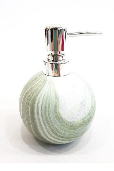 Porselen Sıvı Sabunluk Yeşil Renkli