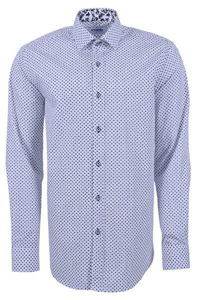 Uzun Kollu Desenli Erkek Gömlek