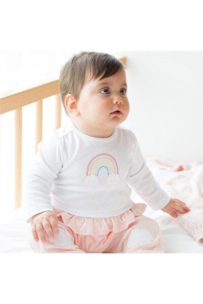 Rainbow Uzun Kollu Pijama Takımı Pembe/beyaz