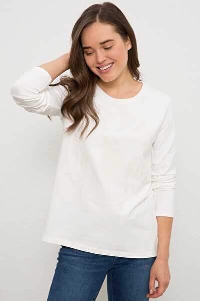 Beyaz Kadin Sweatshirt
