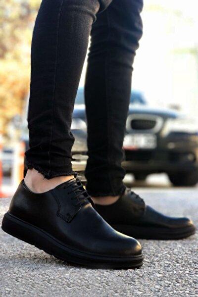 Siyah Bağcıklı Erkek Klasik Ayakkabı