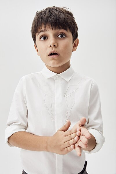 Erkek Çocuk Ekru Gömlek 20fw0nb3605