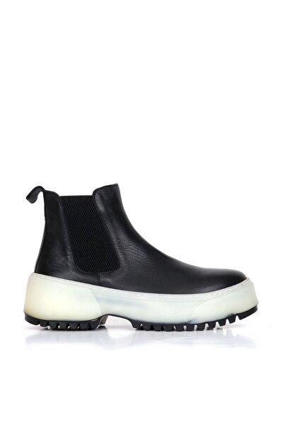 Shoes Hakiki Deri Kadın Dolgu Topuk Bot 01wr4701