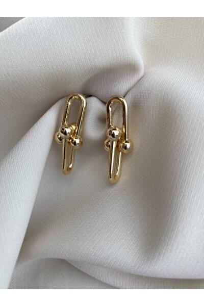 Gold Renk Tiffany Küpe