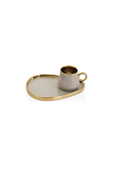 Porselen 10688 Kronos 6lı Kahve Fincan Takımı Bej