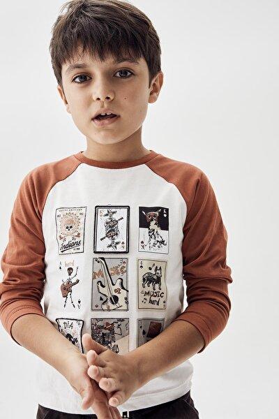 Erkek Çocuk Ekru T-shirt 20fw0nb3516