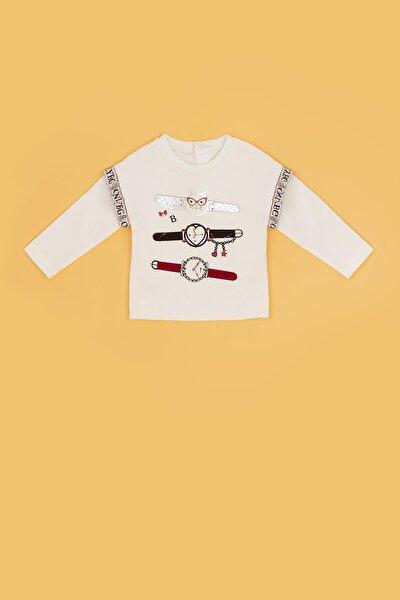 Kız Bebek Beyaz T-shirt 20fw0bg2516