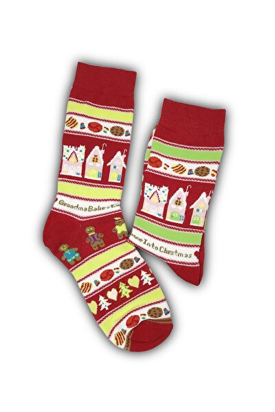 Çorap Renkli Desenli Kolej Çorap 0085
