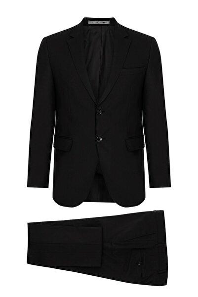 Erkek Siyah Regularfıt / Rahat Kalıp Std Takım Elbise