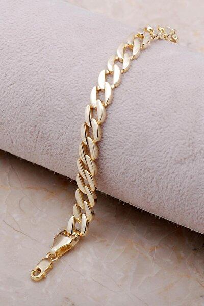 Altın Yaldızlı Gurmet Zincir Bileklik 3473