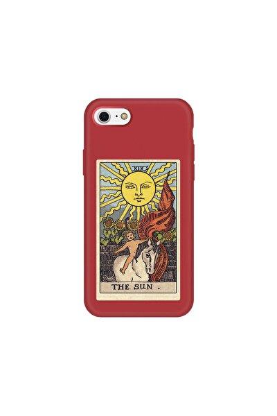 Iphone 7 Kırmızı Lanman The Sun Baskılı Telefon Kılıfı