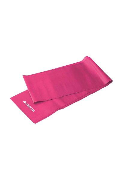 Pembe Tam Sert Pilates Bandı Egzersiz Direnç Lastiği 150 x 15 cm