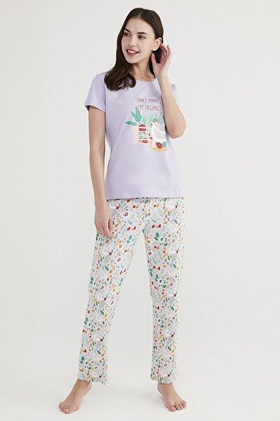 Çok Renkli Don'T Panic Pijama Takımı