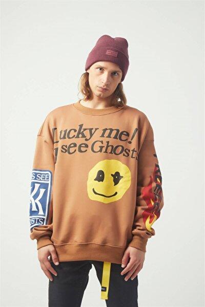 Luckme Oversıze Sweatshirt Kahverengi Tr30016