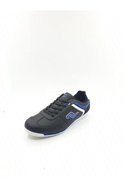Erkek Siyah Mavi Günlük Ince Tabanlı Spor Ayakkabı