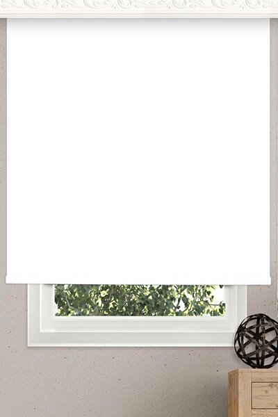 Stor Perde 210x200 Cm Beyaz Modern Perde