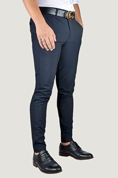 Erkek Lacivert Keten Pantolon 9Y-2200196-008