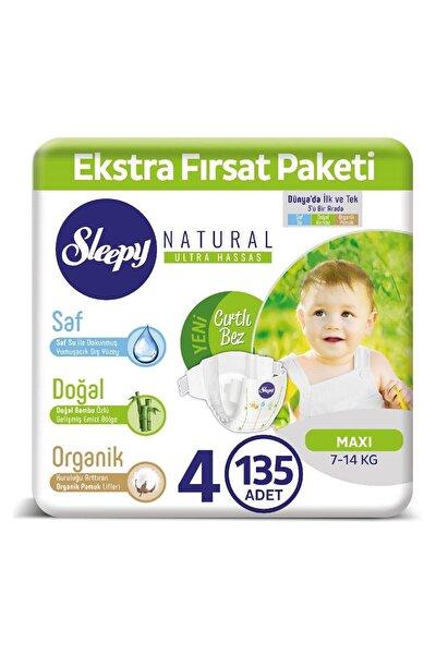 Natural Bebek Bezi 4 Numara Maxi 135 Adet