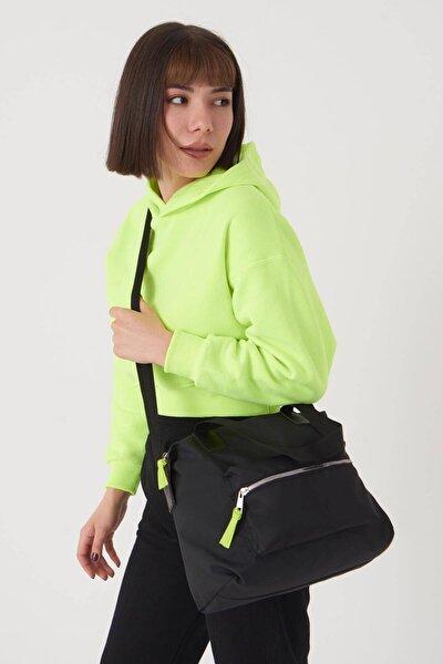 Kadın Siyah Fermuar Detaylı Çanta Ç503 - F13 Adx-0000023674