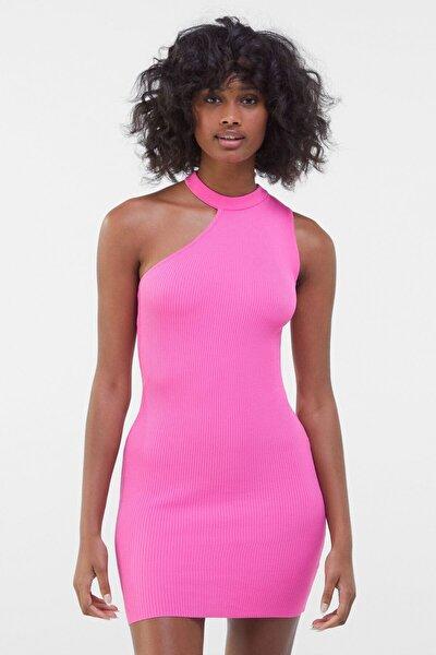 Kadın Fuşya Asimetrik Elbise 00517623
