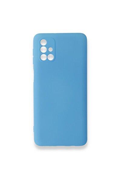 Samsung Galaxy M31s Kılıf Silikon Içi Kadife Nano - Mavi
