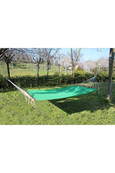 Bahçe Hamağı - Çift Kişilik Salıncak Hamak - Renkli Bez Hamak - Yeşil