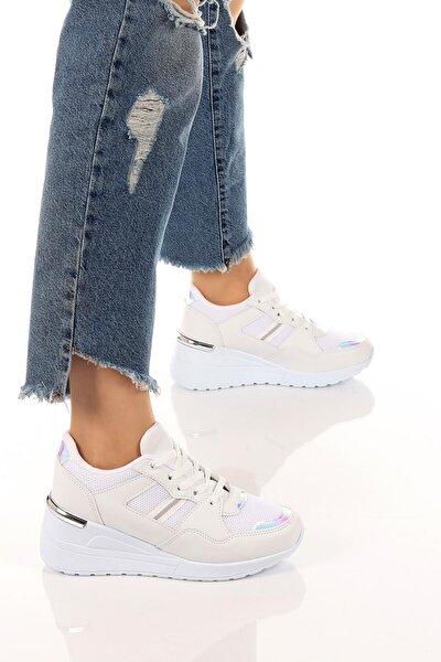 Kadın Günlük Rahat Ve Esnek Bağcıklı Spor Ayakkabı Sneaker Soby11020030