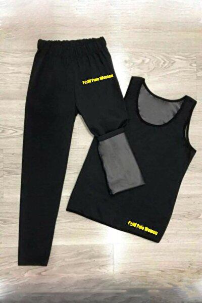 Unisex Termal - Tayt Ve Atlet Takım Polimer Kumaş Zayıflama Incelme Ve Yağ Yakma Spor Kıyafeti