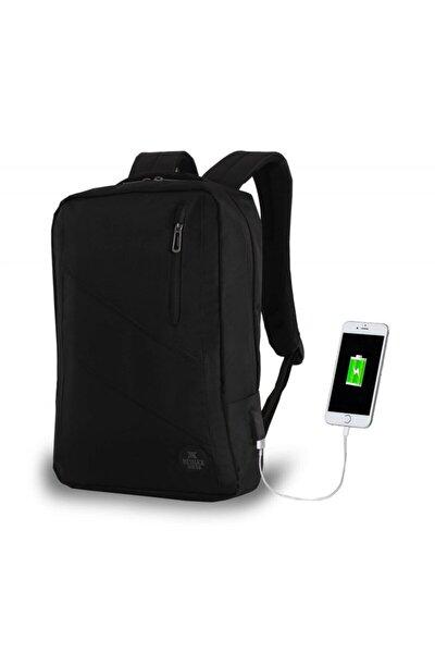 Unisex Siyah Smart Bag Usb Şarj Girişli Akıllı Sırt Çantası 1209