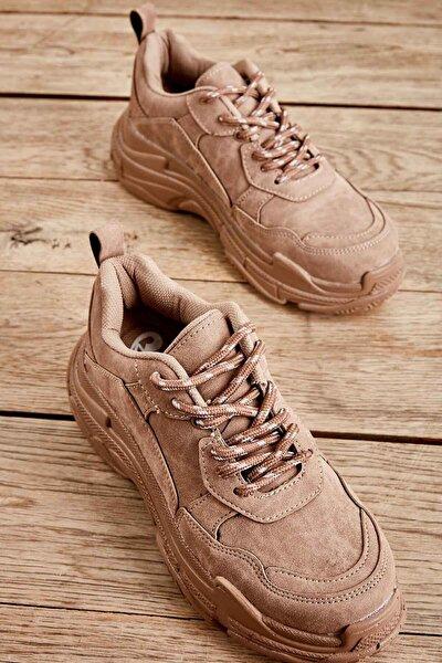 Toprak Nubuk Kadın Sneaker K01591007271