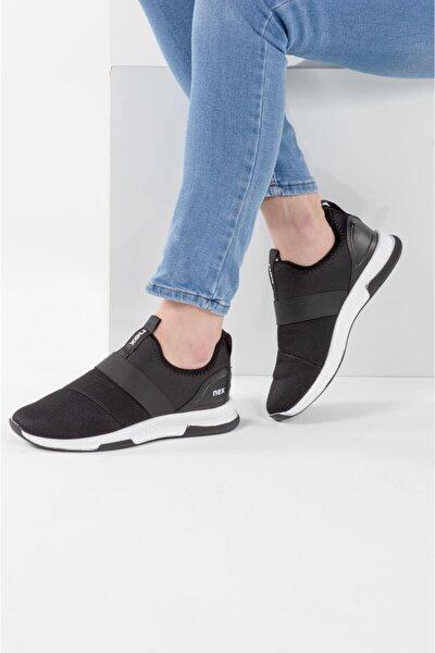 707 Siyah Beyaz Hava Akışlı Erkek Spor Ayakkabı