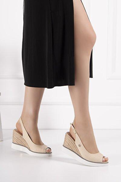 Pc51053 Kadın Sandalet Bej
