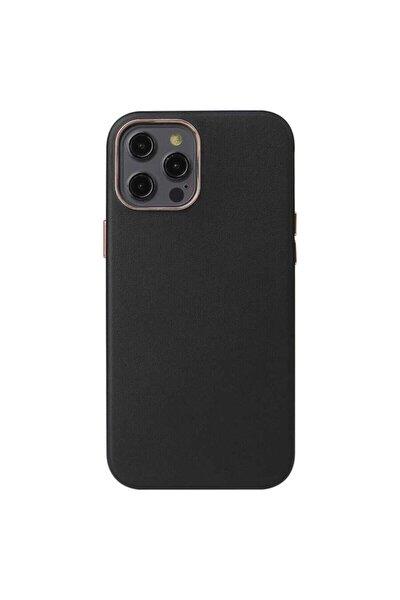Iphone 12 Pro Max Kılıf Orjinal Deri Kamera Korumalı Kaymaz