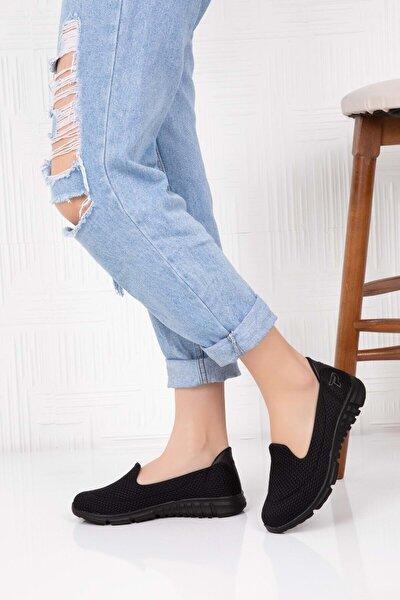 Kadın Siyah Ortopedik Taban Günlük Ayakkabı