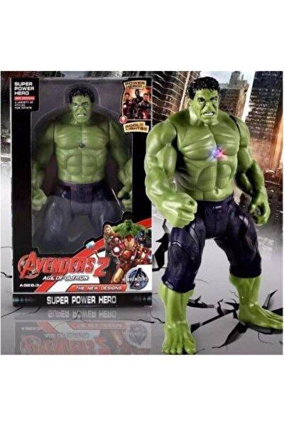 Hulk Figür Oyuncak 26 Cm Yeşil Dev Avengers Titan Hero Işıklı Büyük Boy Figür