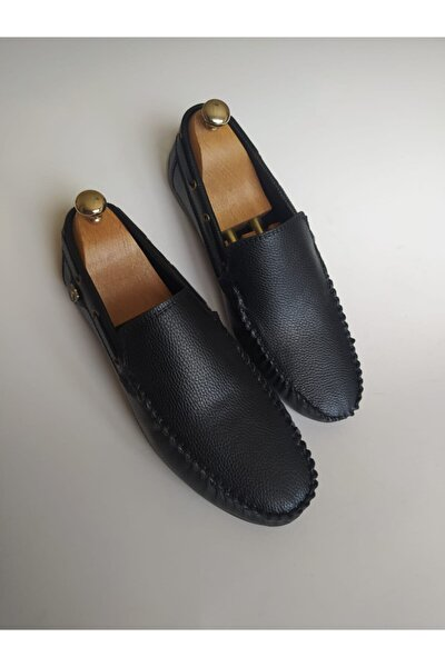 Erkek Siyah Suni Deri Klasik Ayakkabı