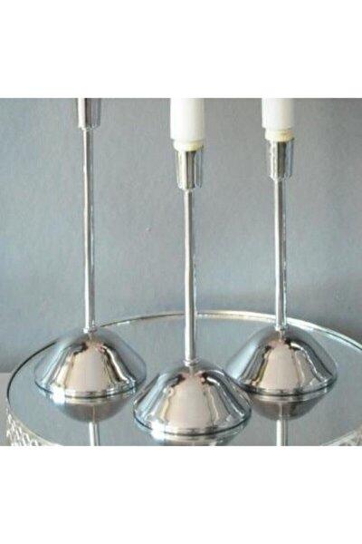 3 Lü Metal Çubuk Mumluk Şamdan
