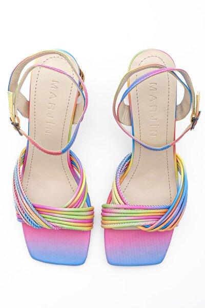Kadın Multi Yanvez Topuklu Sandalet