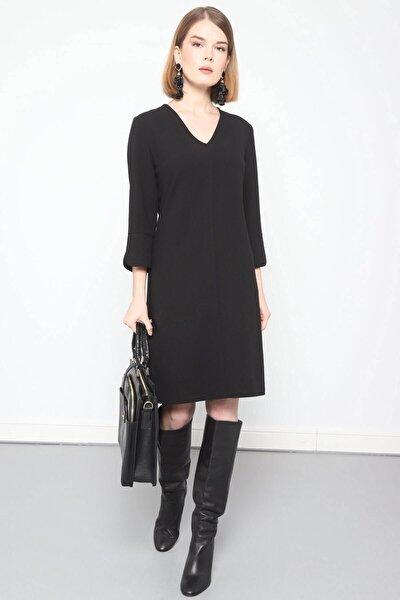 Elbise- V Yaka Turvakar Kol, Kol Yırtmaç Detaylı