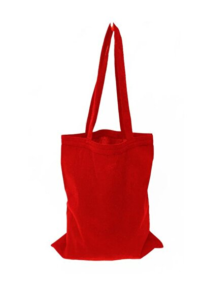 Baskısız Bez Çanta 35x40 Kulplu Kırmızı