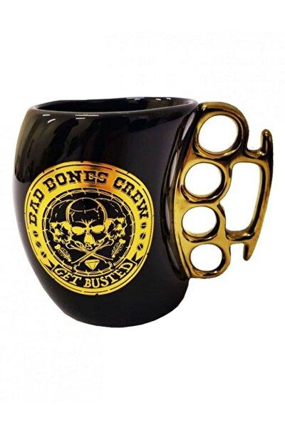 Kafatası Tasarımlı Muşta Kupa Bardak Punch Mug