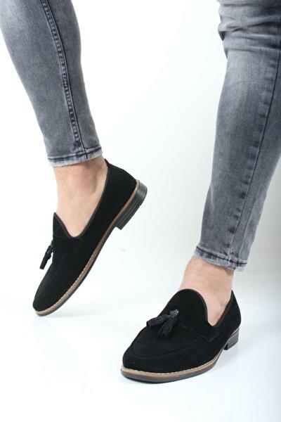 Erkek Siyah Hyman Püskülü Loafer Ayakkabı