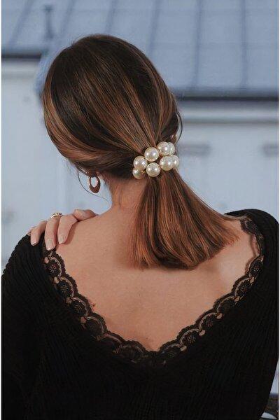 Kadın Pearls Inci Esnek Saç Tokası